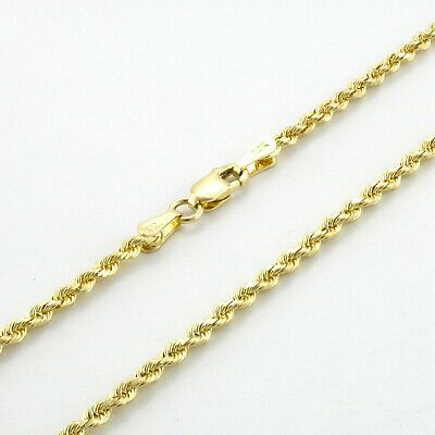 Ebay Ad 10k Yellow Gold Solid 2mm Womens Rope Chain Bracelet Anklet W Lobster With Images Dainty Pendant Necklace Womens Necklaces Silver Bracelets For Women