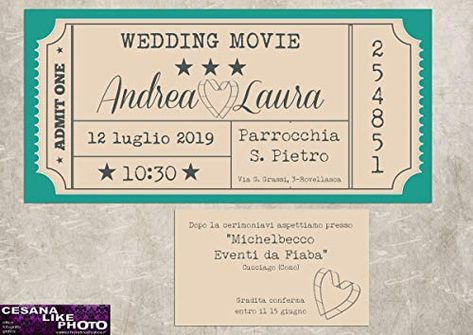 Partecipazioni Matrimonio Personalizzate.Partecipazioni Matrimonio Personalizzate Inviti Nozze Biglietto
