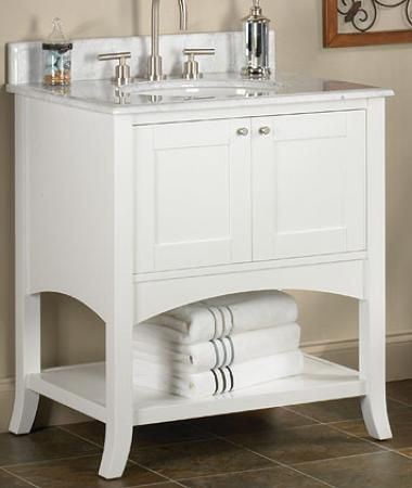 Website Photo Gallery Examples Fairmont Designs Shaker Open Shelf Vanity Bath Vanity from Home u Stone