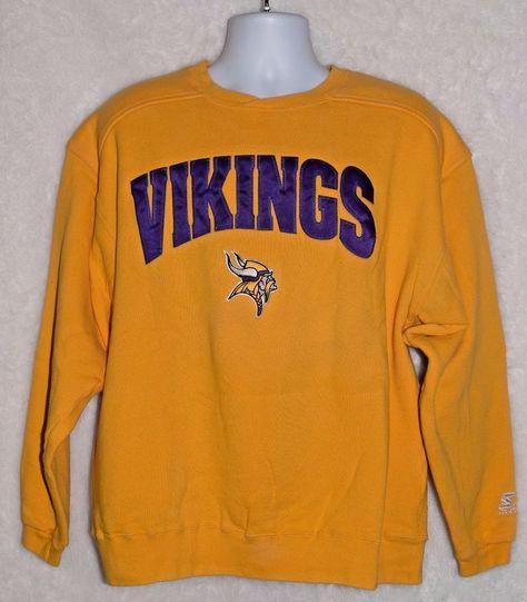 Vintage 90s Minnesota Vikings Starter Sweatshirt Mens L NFL Football Purple   Starter  MinnesotaVikings 053fb488c