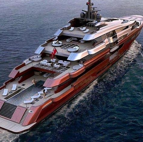 Beautiful red mega yacht they should of painted GREEN for the color of money. ww… Beautiful red mega yacht they should of painted GREEN for the color of money. Jet Ski, Jet Privé, Yacht Luxury, Luxury Travel, Luxury Cars, Luxury Yacht Interior, Luxury Yachts For Sale, Luxury Private Jets, Private Yacht