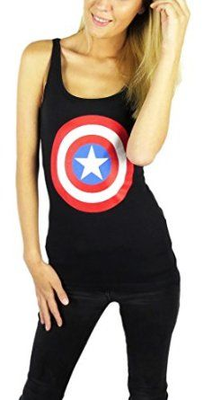 Amazon.com: Marvel Womens Avengers Captain America Tank Top: Clothing