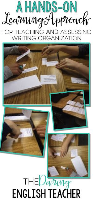 A Hands-on Learning Approach for Teaching and Assessing Writing Organization