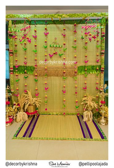 Kora Mat Decoration Background Decoration Wedding Background Decoration Indian Baby Shower Decorations