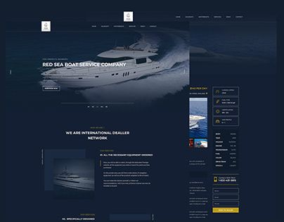 Red sea boat service company web ui ux design