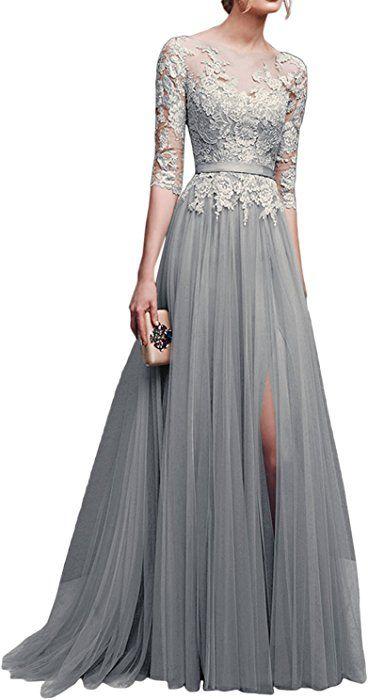 Festliche Kleider Grau Silber
