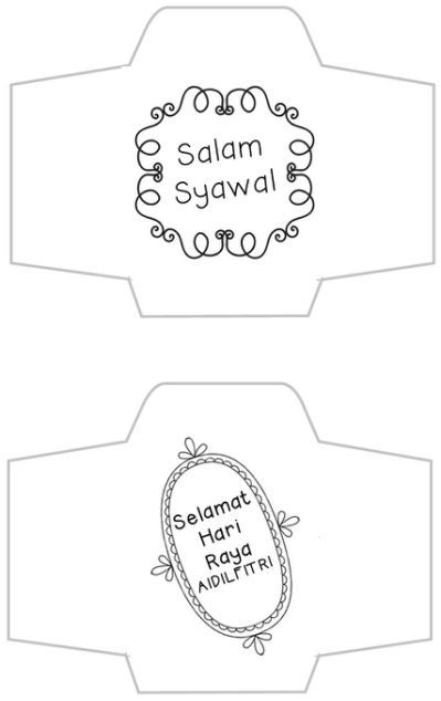Diy Sampul Duit Raya From Famf Templates Pocket Design
