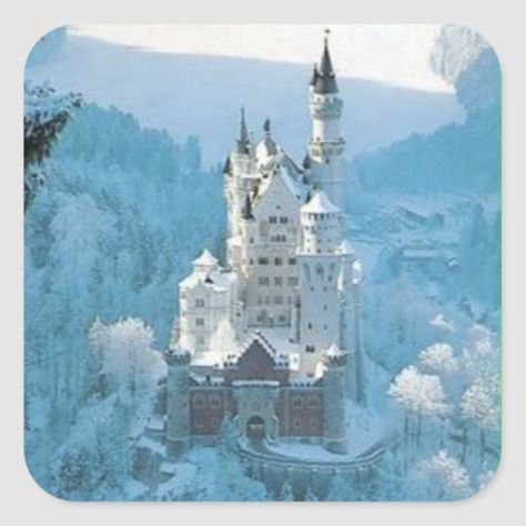 Sleeping Beauty's Castle Square Sticker #disneyland #customize #personalize