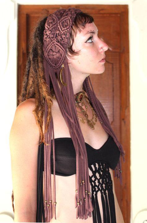 SALE Macrame headband by KayoAnimeClothing on Etsy