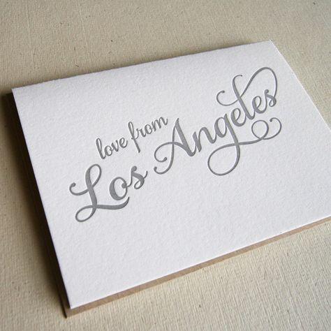 Love from LA Card   Steel Petal Press