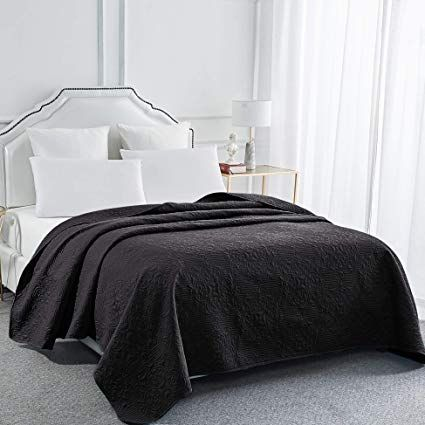 Amazon Com Sophia And William Bed Quilt Bedspread Coverlet Reversible Lightweight King Size Black Home Bed Spreads Quilt Bedding Pink Black Bedrooms