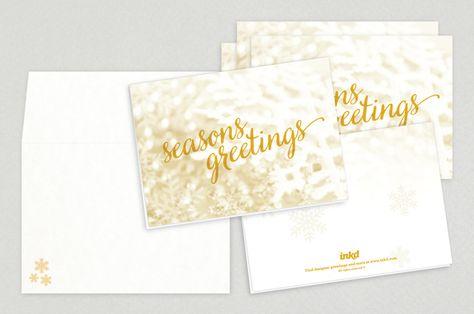 Seasons Greetings Holiday Greeting Card Template u2014 This elegant - greeting card templates