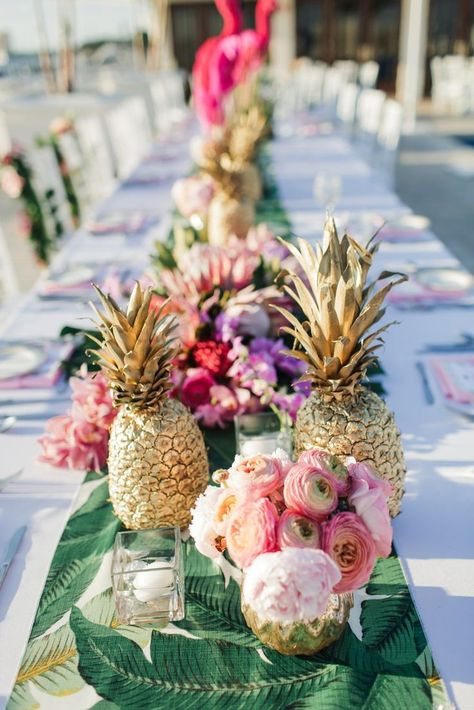 Baby Shower Pineapple Party Tropical Party Holographic Gold Pineapple Confetti 25CT Luau Party Hawaiian Decor Bridal Shower No255