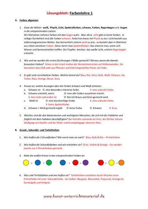 Farbenlehre Grundschule Kunstunterricht | rajz | Pinterest | Art ...