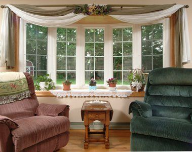 I Am Often Asked How To Dress A Bow Window Here Is Great Option Custom Roman Blinds With Batons Help Support The Length And Shape Side P