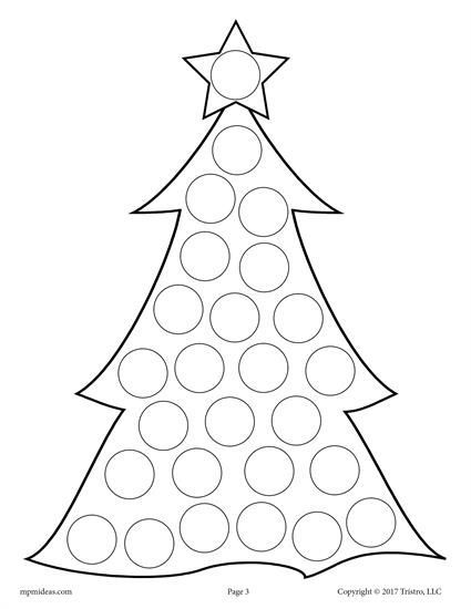 10 Christmas Do A Dot Printables Preschool Christmas Winter Crafts Do A Dot