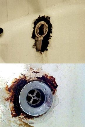 Bathtub Drain Overflow Rust Hole Repair Bathtub Repair Refinish