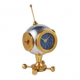 Spaceman Table Clock Helmet Brass Silver Pendulux Tcspcal Table Clock Clock Pendulux Clock