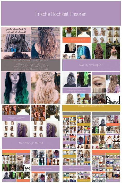 Fresh wedding hairstyles half top half braids #braid hairstyles # frizzy hair #p ..., #braid #Braids #fresh #frizzy #hair #Hairstyles #TOP #wedding