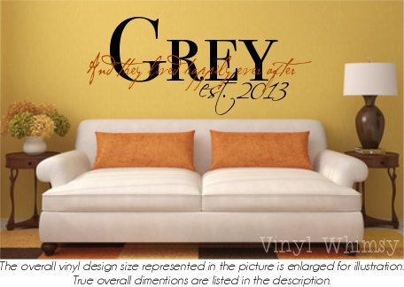 Fine Last Name Decorations For Wall Motif - Wall Art Design ...