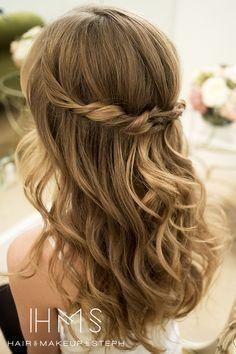 Einfache Frisur Hochzeitsgast Hochzeitsfrisuren Hochzeitsfrisuren Offene Haare Haare Hochzeit