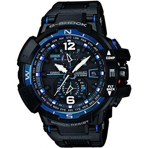 Casio - GW-A1100FC-1AER - Montre Homme - Quartz Digitale - Radio/Solaire/Boussole/Alarme - Bracelet Résine Noir: Amazon.fr: Montres