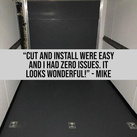 Enclosed Trailers Garage Floor Mats
