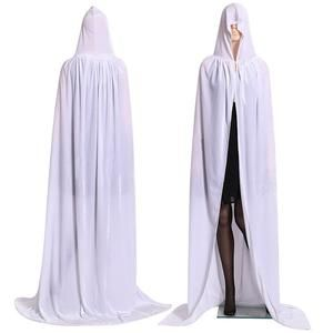 Halloween Costume Party Vampire Witchcraft Cape Gothic Hooded Cloak Wicca Robe