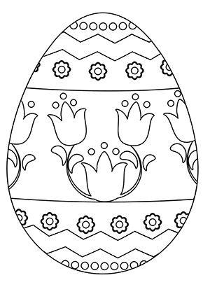 Osterei Mit Tulpen Zum Ausmalen Ausmalbilder Malvorlagen Ostern Osterhase Kindergarten Osterei Malvorlage Hase Ostereier Farben Ausmalbilder