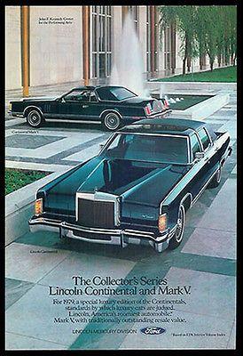 "1987 Lincoln Continental Sail American Edition Original Print Ad 8.5 x 11/"""