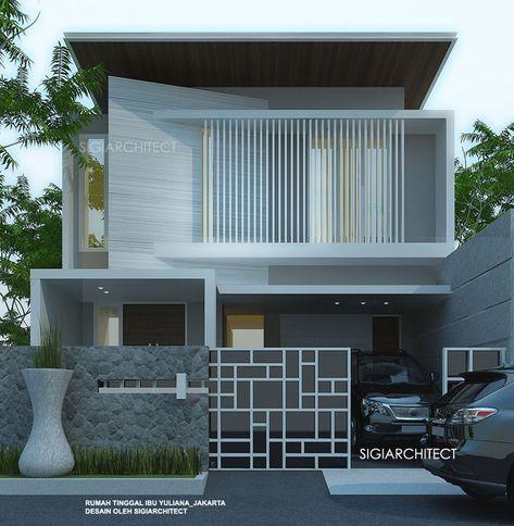 Model Rumah Modern 2018 2 Lantai 250m2 Rumah Modern Arsitektur