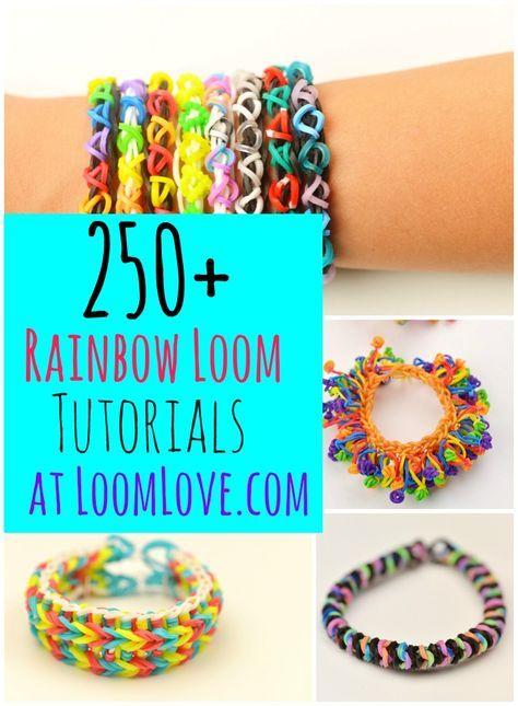 250+ Loom Band Designs at Loom Love #rainbowloom