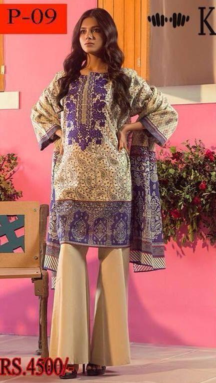 Khaadi Lawn Suit, Online Dress Shopping, Ladies Designer