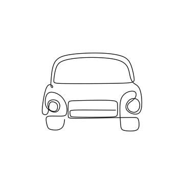 Continuous Line Drawing Of Classic Cars Classic Transportation Drive Png And Vector With Transparent Background For Free Download Line Drawing Continuous Line Drawing Retro Cars