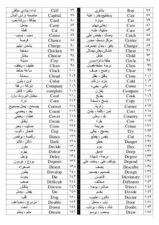500 كلمة من أكثر المفردات الإنجليزية شيوعا واستخداما In 2021 English Language Learning Grammar Learn Arabic Language English Language Teaching