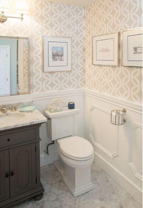 Hex Floor. Bathroom Marble Hex Flooring. Bathroom with marble hex flooring ideas. #Bathroom #Marble #HexFlooring AGK Design Studio.