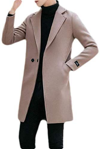 HTOOHTOOH Mens Padded with Hood Single Breasted Slim Winter Thick Down Jacket Coat