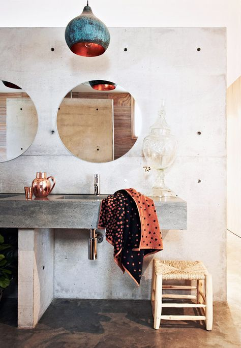 Kip & Co's Autunm / Winter 2014 'Spots' bath towel.Photos byArmelle Habib, styling byJulia GreenandAmber Lenette.