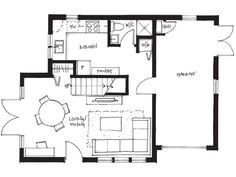 Ac main  sq ft bedroom bath garage laneway small house also floor plans rh pinterest