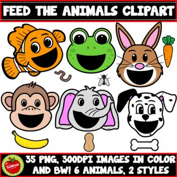 50 Off For 48hrs This Is A Feed The Animal Clipart Set Which Is Perfect For Many Uses Including Boom Cards And Other Di In 2021 Animal Clipart Clip Art Animals