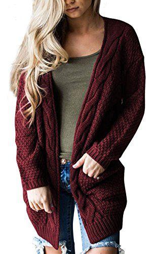 Steven McQueen Women\u0027s Cable Knit Sweater Open Front Long