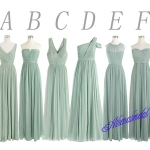 dusty green bridesmaid dress mismatched bridesmaid dress long bridesmaid dress chiffon bridesmaid dress wedding party dress from Yesdress