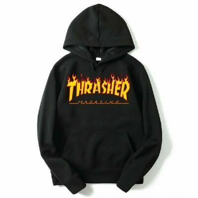New Unisex  Hip Hop Hoodie Sweatshirt Basic Skateboard Thrasher Jacket