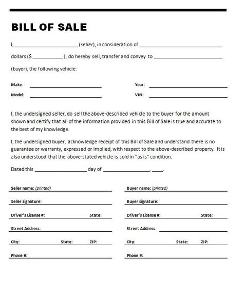 Printable Sample bill of sale templates Form Future plan - free employment contract template word