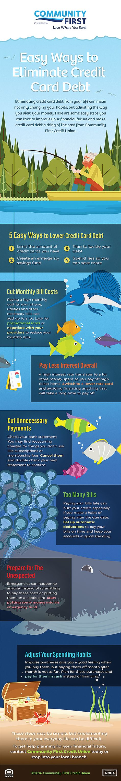Easy Ways to Eliminate Credit Card Debt [Infographic]