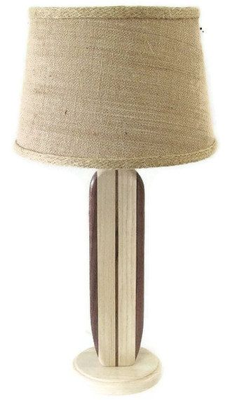 Surfboard Accent Lamp Walnut by MarkerSix on Etsy, $68.99