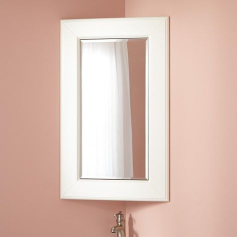 Winstead Corner Medicine Cabinet With Mirror Corner Medicine Cabinet Corner Bathroom Mirror Corner Mirror