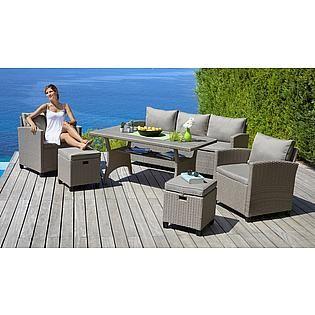 Konifera Loungeset Amsterdam 16 Tlg 3er Sofa 2 Sessel 2 Hocker Tisch Polyrattan Auf Rechnung Bestellen