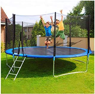 Leadmall Kids Outdoor Trampoline Childrens Toddler 12ft Combo Bounce Jump Safety Enclosure Net Spring In 2020 Outdoor Trampoline Kids Trampoline Trampoline Enclosure