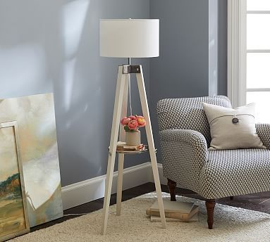 Miles Tripod Floor Lamp Potterybarn Uniquelamps Home